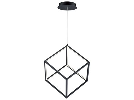 ET2 4 Square Black 12'' Wide LED Pendant ET2E30582BK