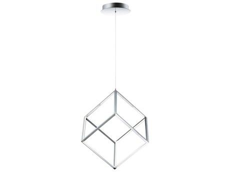 ET2 4 Square Polished Chrome 12'' Wide LED Pendant ET2E30582PC