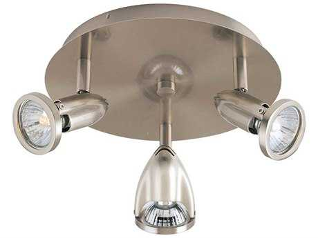 ET2 Agron Satin Nickel Three-Light 9'' Wide Spot Light ET2E3000110SN
