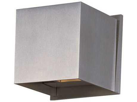 ET2 Alumilux AL Satin Aluminum Two-Light Outdoor Wall Light