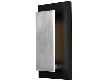 ET2 Alumilux Black / Satin Aluminum 10'' Wide LED Outdoor Wall Light ET2E41335BKSA