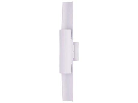 ET2 Alumilux White Two-Light 4'' Wide LED Outdoor Wall Light ET2E41526WT