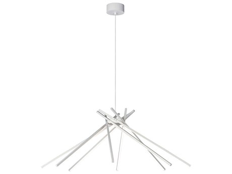 ET2 Alumilux Suspension White Eight-Light 45'' Wide LED Pendant Light ET2E41445WT
