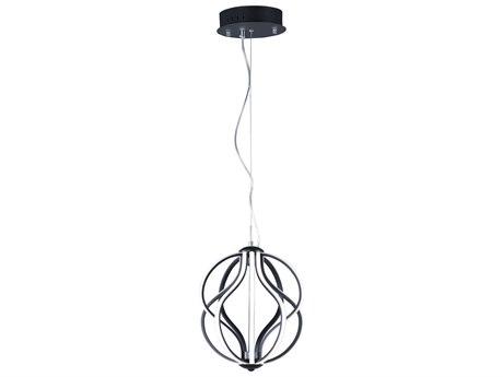 ET2 Aura Black 12'' Wide LED Mini Pendants ET2E21172BK