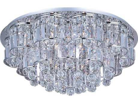 ET2 Bangle Polished Chrome & Crystal Glass 20-Light 26'' Wide Flush Mount Light ET2E2325820PC