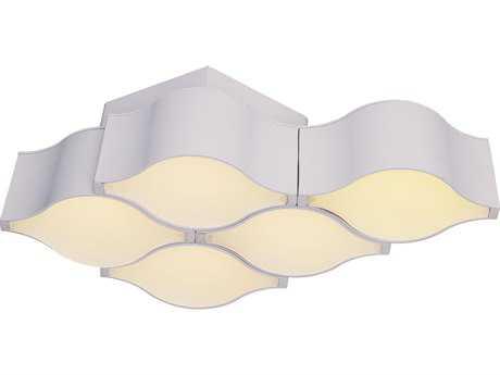 ET2 Billow Matte White Five-Light 17'' Wide LED Flush Mount Light / Wall Sconce ET2E24120MW