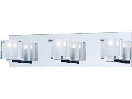 ET2 Blocs Polished Chrome Three-Light 20'' Wide LED Vanity Light ET2E3203318PC