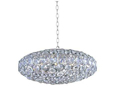 ET2 Brilliant Polished Chrome Eight-Light 24'' Wide Pendant Light ET2E2401220PC