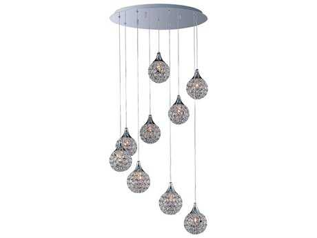 ET2 Brilliant Polished Chrome Nine-Light 22'' Wide Pendant Light ET2E2402020PC