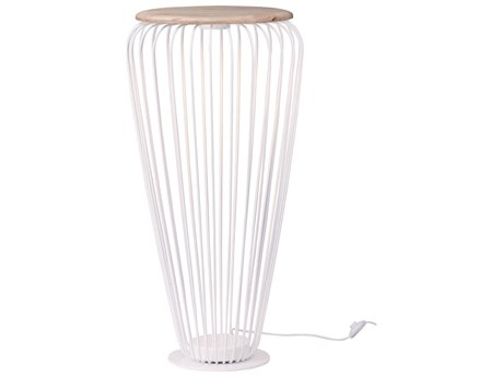 ET2 Cage White / Navaho White 21'' Wide LED Floor Lamp ET2E20576WTNW