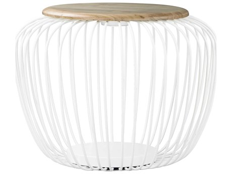 ET2 Cage White / Navaho White 25'' Wide LED Floor Lamp ET2E20578WTNW