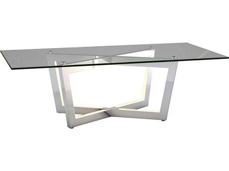 ET2 Carlo Polished Chrome 51'' Wide Rectangular Coffee Table