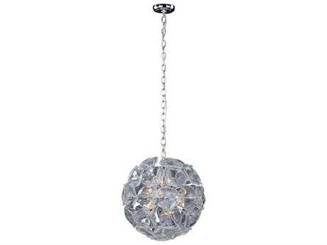 ET2 Cassini Polished Chrome & Clear Murano Glass 12-Light 20'' Wide Pendant Light ET2E2209328