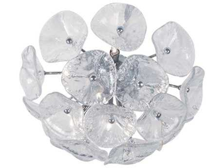 ET2 Cassini Polished Chrome Eight-Light Wall Sconce with Clear Murano Glass ET2E2209228
