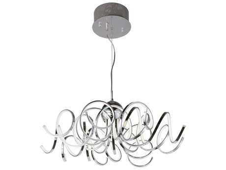 ET2 Lighting Chaos Polished Chrome Nine-Light 34'' Wide LED Pendant Light ET2E21415PC