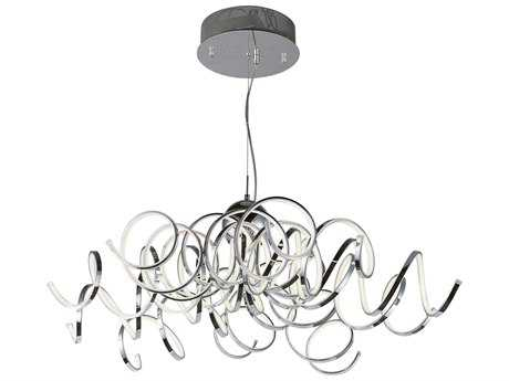 ET2 Lighting Chaos Polished Chrome Ten-Light 42'' Wide LED Pendant Light ET2E21417PC