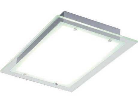 ET2 Contempra Brushed Aluminum & Clear Glass Two-Light 21.5'' Wide Flush Mount Light ET2E2212124AL