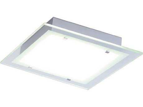 ET2 Contempra Brushed Aluminum & Clear Glass Two-Light 13.5'' Wide Flush Mount Light ET2E2212224AL