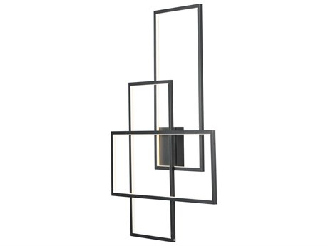 ET2 Converge Black 28'' Wide LED Wall Sconce ET2E20708BK