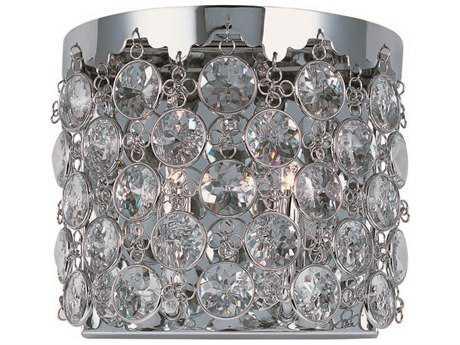 ET2 Dazzle Polished Chrome Two-Light Wall Sconce ET2E2115720PC
