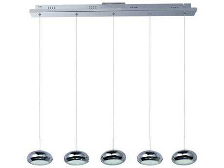 ET2 Dial Polished Chrome Five-Light 34'' Long LED Island Light ET2E22555PC
