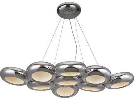 ET2 Donuts Polished Chrome Nine-Light 28.75'' Wide Chandelier
