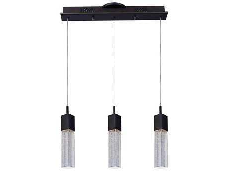 ET2 Fizz III Bronze & Etched-Bubble Glass Three-Light 19.5'' Long LED Island Light ET2E2276389BZ