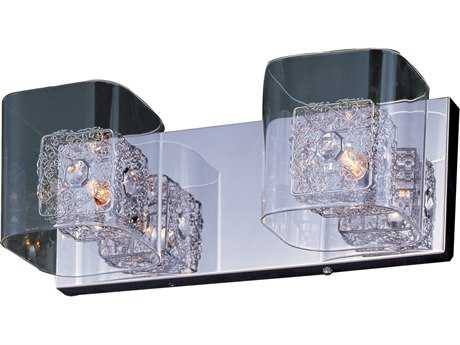 ET2 Gem Polished Chrome with Silver Two-Light 15'' Wide Vanity Light ET2E2283218SVPC