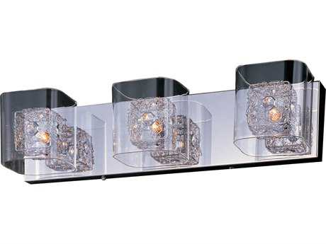 ET2 Lighting Gem Polished Chrome Clear Glass Three-Light Xenon Vanity Light ET2E2283318PCPC