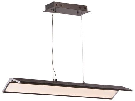ET2 Glider Black / Polished Chrome 35'' Wide LED Island Light ET2E24333BKPC