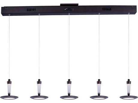 ET2 Hilite Bronze & White Glass Five-Light 37.5'' Long LED Island Light ET2E2116501BZ
