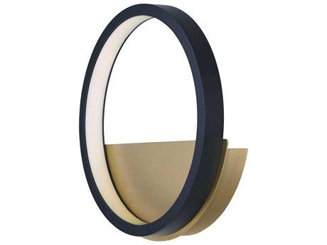 ET2 Hoopla Black / Gold 12'' Wide LED Vanity Light ET2E24320BKGLD
