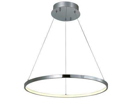ET2 Lighting Hoops Polished Chrome 23.5'' Wide LED Pendant Light ET2E22713PC