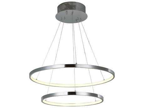 ET2 Lighting Hoops Polished Chrome Two-Light 23.5'' Wide LED Pendant Light ET2E22714PC