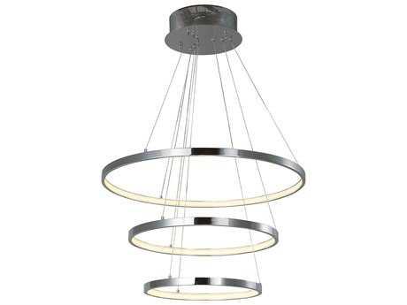 ET2 Lighting Hoops Polished Chrome 23.5'' Wide LED Pendant Light ET2E22715PC