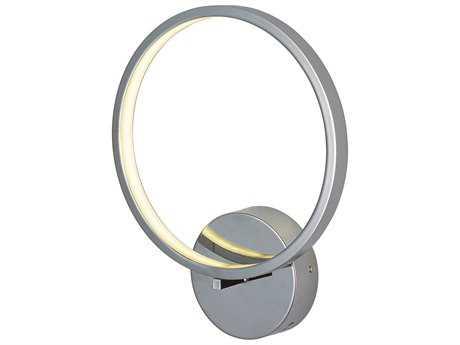 ET2 Lighting Hoops Polished Chrome LED Wall Sconce ET2E22710PC