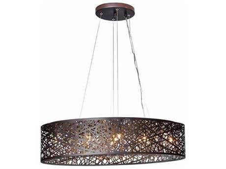 ET2 Inca Bronze Nine-Light 31.5'' Long LED Island Light (Bulb Included) ET2E2131010BZBUL