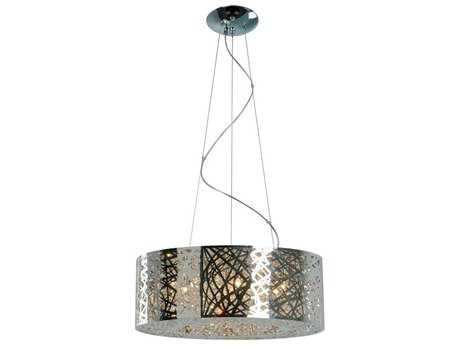 ET2 Inca Polished Chrome Nine-Light 23.5'' Wide LED Pendant Light (Bulb Included) ET2E2130810PCBUL