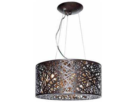 ET2 Inca Bronze Seven-Light 16'' Wide Xenon Pendant Light (Bulb Not Included) ET2E2130910BZ