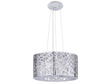 ET2 Inca Polished Chrome Seven-Light 16'' Wide Pendant Light (Bulb not Included) ET2E2130910PC
