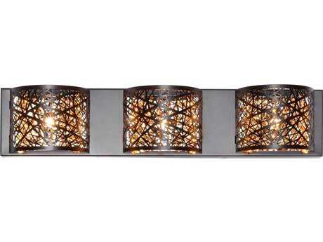 ET2 Inca Bronze Three-Light Vanity Light ET2E2131610BZ