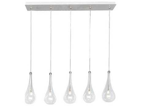 ET2 Larmes Polished Chrome Five-Light 31.5'' Long LED Island Light ET2E2312518PC