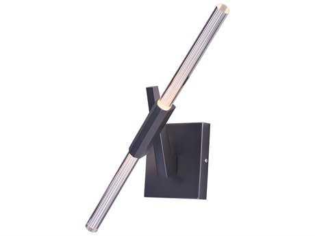 ET2 Light Saber Gunmetal Two-Light 8'' Wide LED Wall Sconce ET2E4143075GM