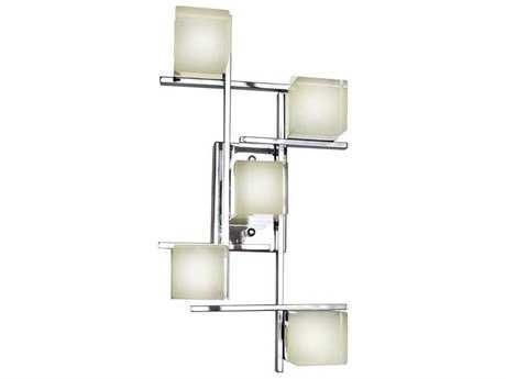 ET2 Nova LED Polished Chrome Five-Light Wall Sconce ET2E3120175PC