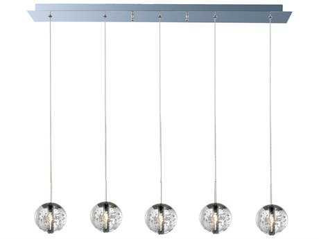 ET2 Orb Polished Chrome Five-Light Island Light ET2E2425791PC