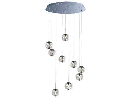 ET2 Orb Polished Chrome Nine-Light Pendant ET2E2425491PC