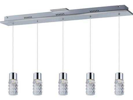 ET2 Polka Polished Chrome Five-Light Island Light ET2E2077518PC