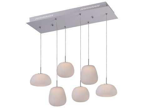 ET2 Lighting Puffs White Matte & White Glass 26'' Long LED Island Light ET2E2112411WT