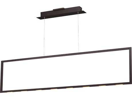ET2 Lighting Rhombus Bronze 55'' Long LED Island Light ET2E22866BZ