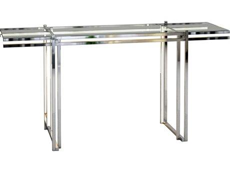 ET2 Rosen Polished Chrome 59'' Wide Rectangular Console Table ET2E71020PC